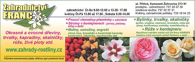Zahradnictví Petr Franc Kamenné...