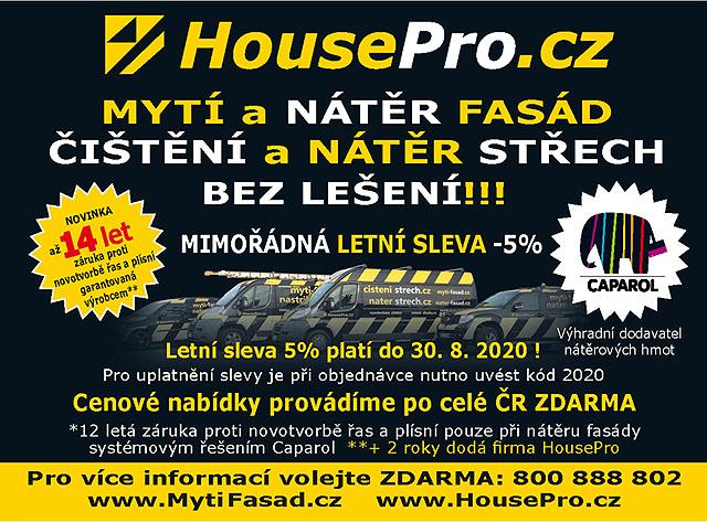 HousePro.cz Mytí a nátěr fásad a střech