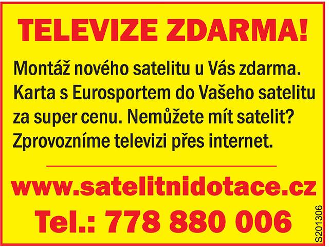 Televize přes satelit nebo...