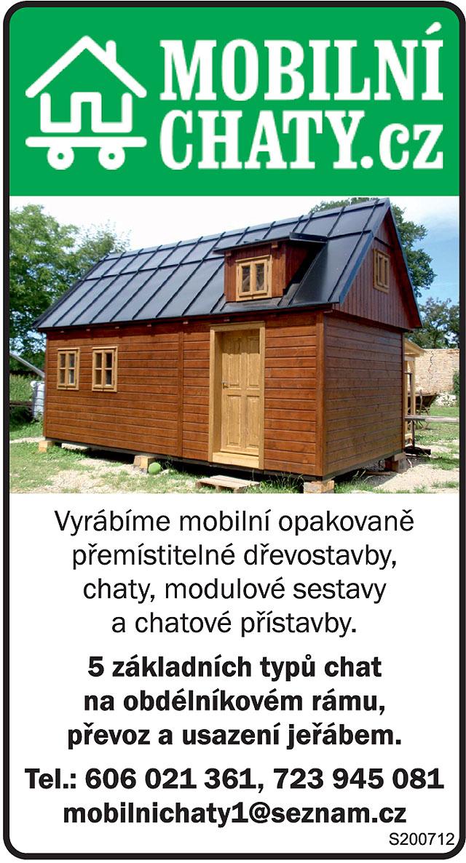 mobilnichaty.cz; Vyrábíme mobilní opakovaně...
