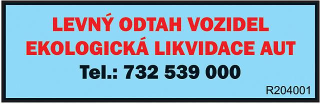 LEVNÝ ODTAH VOZIDEL EKOLOGICKÁ...