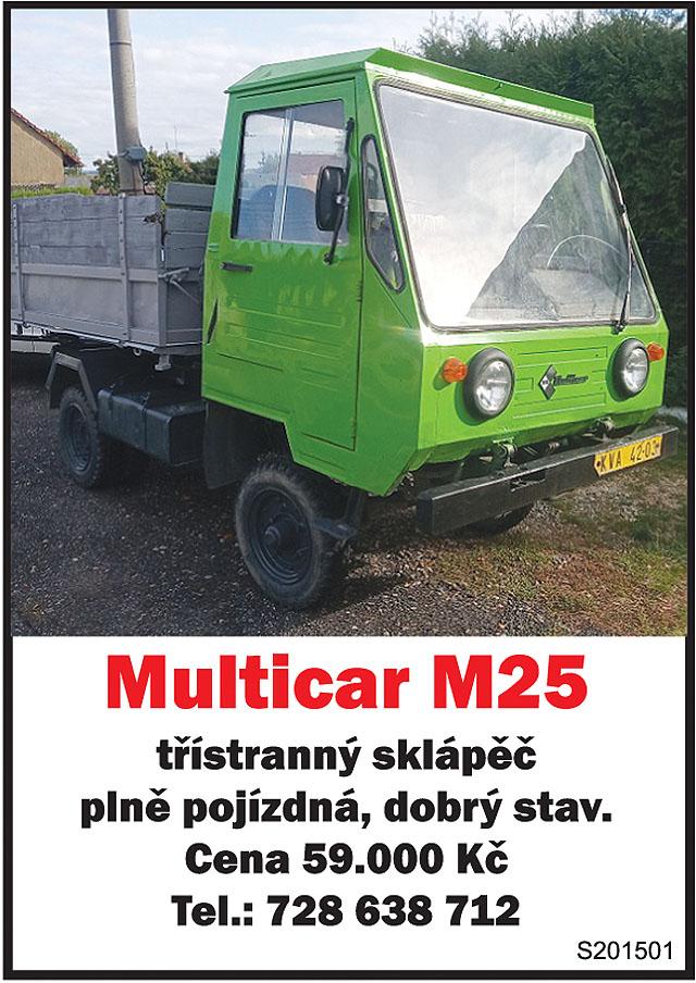 Multicar M25. třístranný sklápěč,...