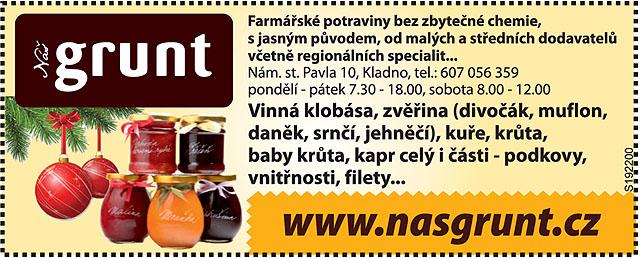 Náš Grunt, farmářské potraviny...