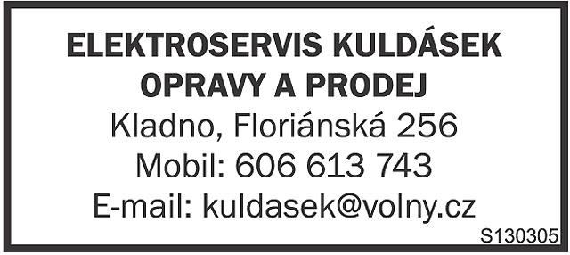 ELEKTROSERVIS KULDÁSEK, OPRAVY A...