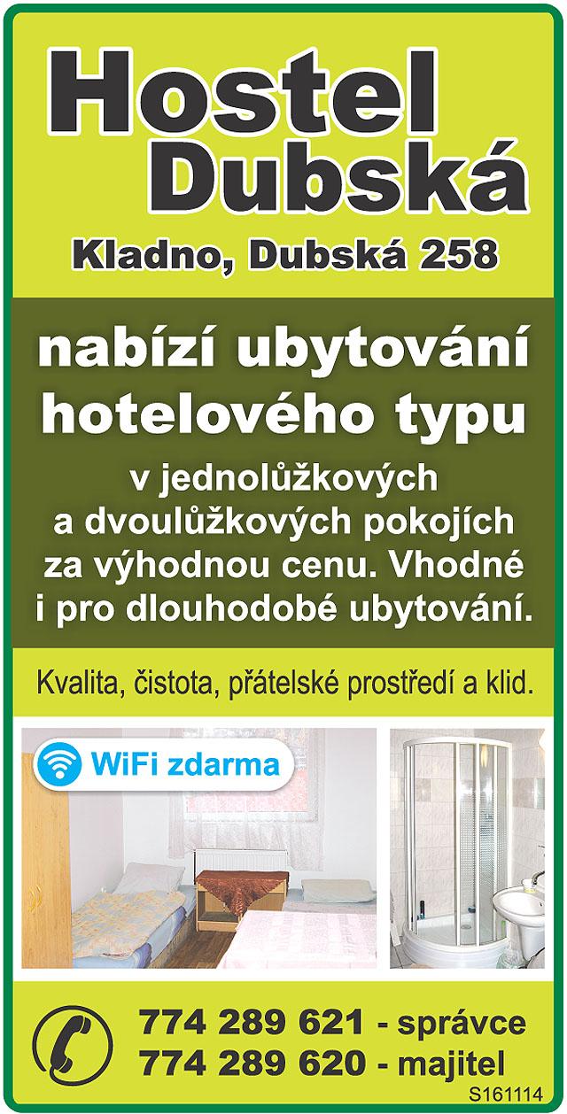 HOSTEL DUBSKÁ Kladno, Dubská...