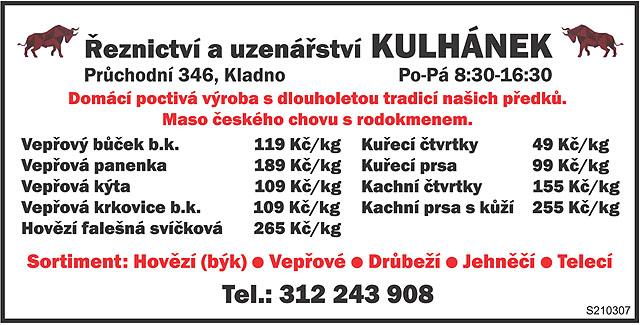 Řeznictví a uzenářství Kulhánek...