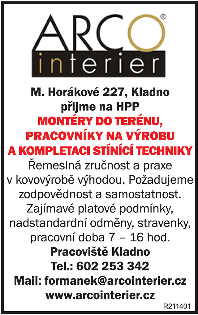 Arco interier, M. Horákové...