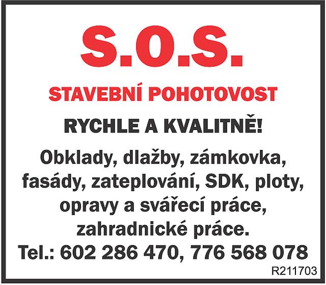 S.O.S. STAVEBNÍ POHOTOVOST! RYCHLE...