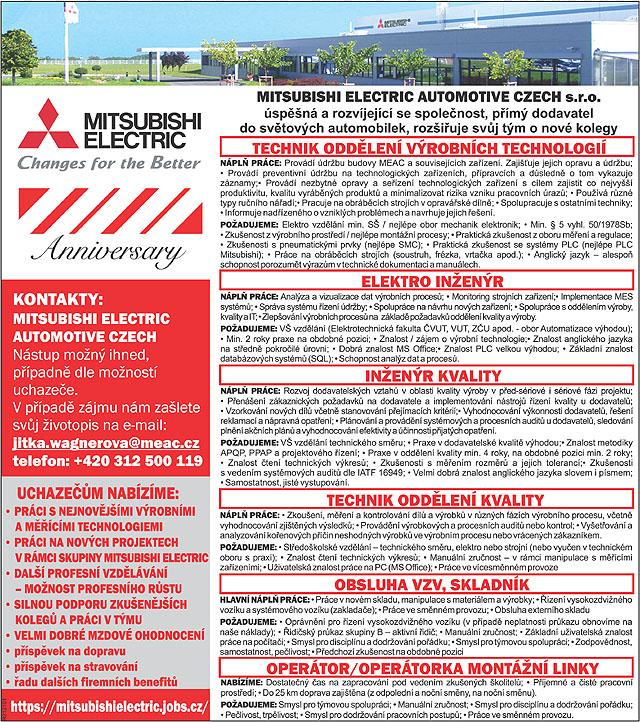 Mitsubishi Electric Automotive Czech...