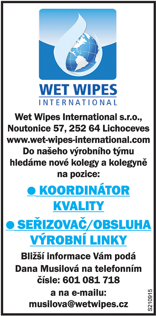 Wet Wipes Noutonice Lichoceves...