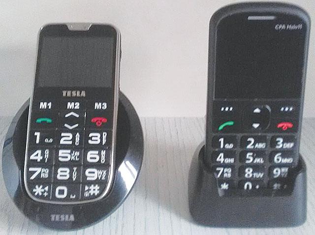 Dva telefony, velmi vhodné...