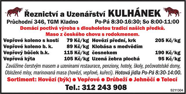 Řeznictví a uzenářství Kulhánek,...