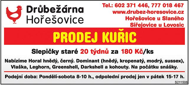 Prodej Kuřic Tel.: 602...