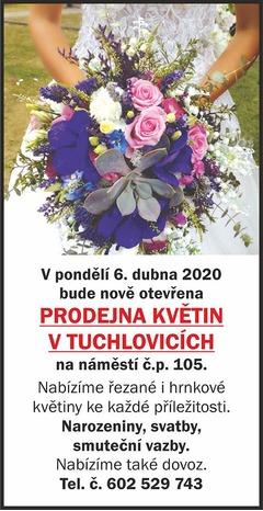 Nové květinářství v Tuchlovicích