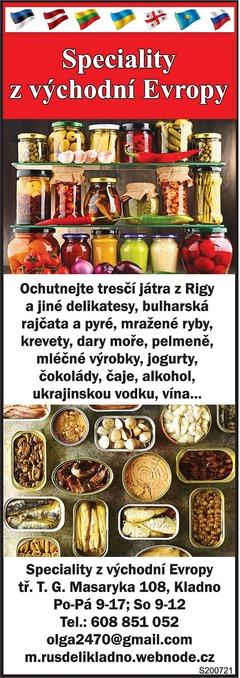 Speciality z východní Evropy
