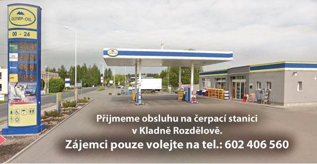 Obsluha ČS Kladno Rozdělov, nabídka práce