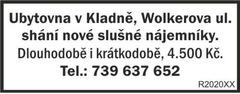 Ubytovna Kladno Wolkerova nabízí ubytování
