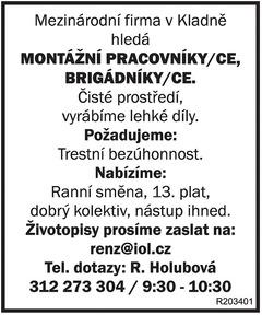 Mezinárodní firma v Kladně...