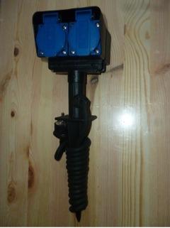 Zahradní čtyřzásuvka na bodci 230V_16A_2m_3x1,5mm_IP44